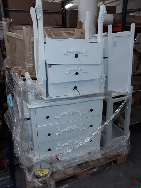 Lot 746 PALLET OF ASSORTED DRAWERED FURNITURE ITEMS