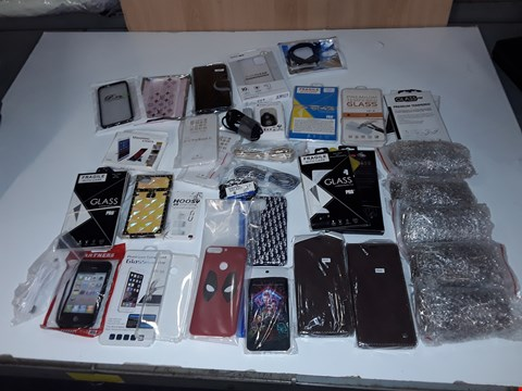 Lot 225 BIX OF ASSORTED MOBILE PHONE ACCESS TO INCLUDE USBC CABLES, VARIOUS PHONE CASES, LARGE AMOUNT OF SIM CARD TOOL/PINS