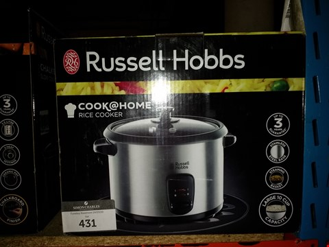 Lot 431 RUSSELL HOBBS COOK @ HOME RICE COOKER