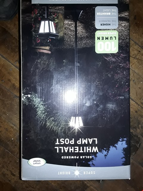Lot 3365 WHITEHALL SOLAR POWERED LAMP POST  RRP £49.99