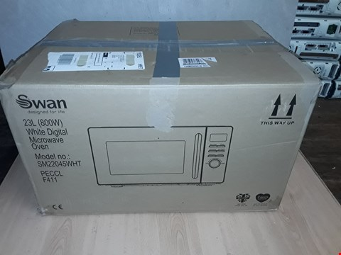 Lot 8100 SWAN 23L DIGITAL MICROWAVE - WHITE