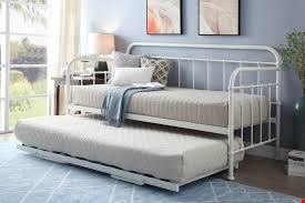 Lot 1104 BOXED HARLOW WHITE METAL DAY BED & TRUNDLE (2 OF 2 BOXES) RRP £600
