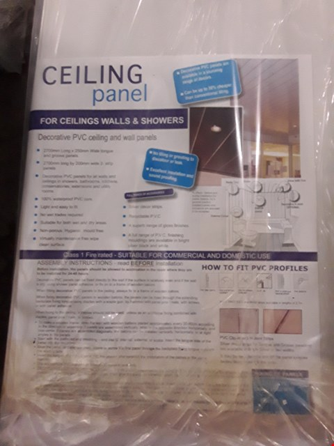 Lot 38 PACK OF REEF WHITE GLOSS CEILING PANELS 2700 × 250 × 8 PANELS = 5.4sq. m RRP £96