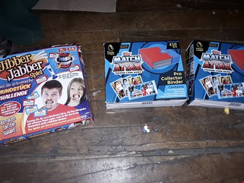 Lot 6074 2X MATCH ATTAX TRADING CARD GAME AND JIBBER JABBER SPIEL GAME