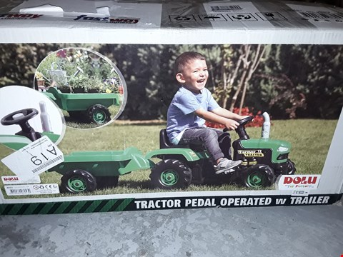Lot 5255 TOY TRACTOR WITH TRAILER RRP £110.00