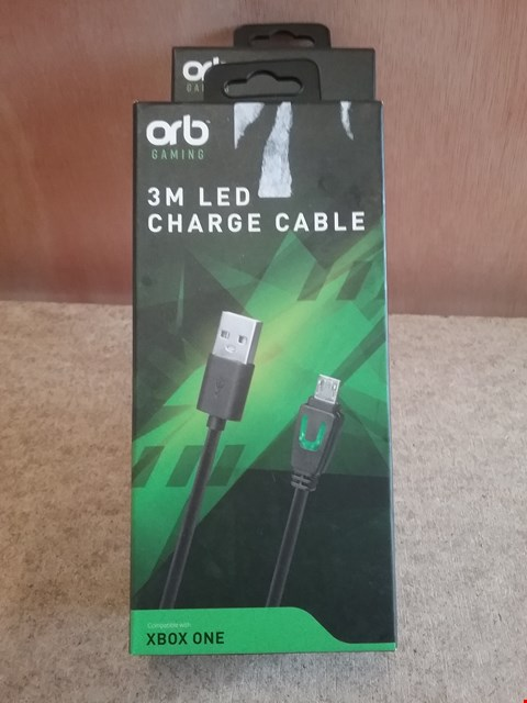 Lot 624 2 BRAND NEW BOXED 3M LED CHARGE CABLE FOR XBOX ONE