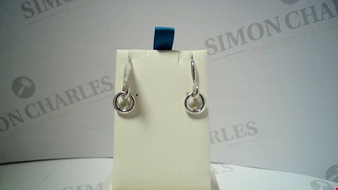 Lot 18057 DESIGNER SILVER TONE EARRINGS