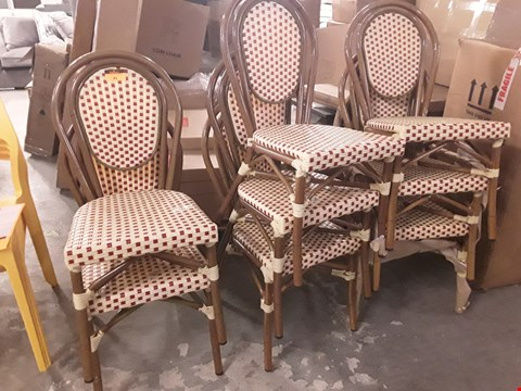 Lot 41 SET OF 8 BAMBOO AND WICKER EFFECT DINING CHAIRS