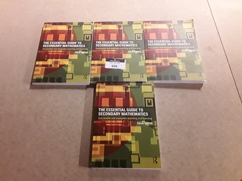 Lot 504 LOT OF 4 VERSIONS OF THE ESSENTIAL GUIDE TO SECONDARY MATHEMATICS BY COLIN FOSTER