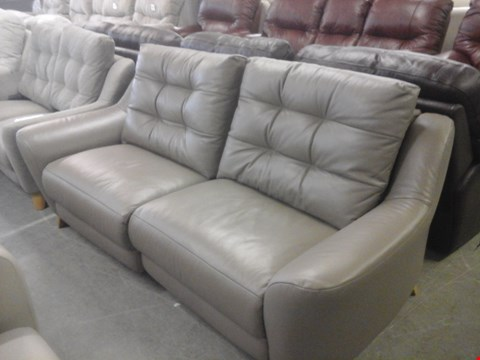 Lot 20 QUALITY BRITISH MADE HARDWOOD FRAMED TAUPE LEATHER 3 SEATER ELECTRIC RECLINER SOFA