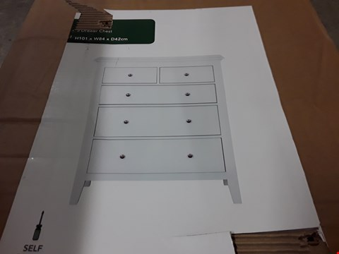 Lot 204 BOXED 5-DRAWER CHEST IN WHITE