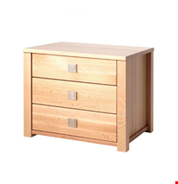 Lot 74 LEONE BEECH 3 DRAWER STORAGE CABINET  RRP £59