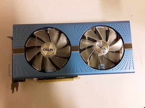 Lot 433 SAPPHIRE RADEON RX 580 NITRO+ SPECIAL EDITION 8 GB GDDR5 2XDP/2XHDMI/DVI-D GRAPHICS CARD - BLUE RRP £470