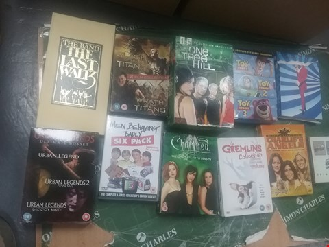 Lot 12081 A BOX OF APPROXIMATELY 21 ASSORTED DVD/BOXSETS TO INCLUDE A MEN BEHAVING BADLY DVD AND A URBAN LEGENDS ULTIMATE BOXSET