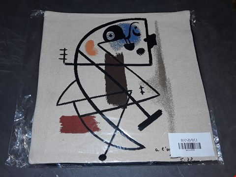 Lot 8157 BRAND NEW 45X45CM  SUCCESSIO JOANMIRO ABSTRACT CUSHION COVER