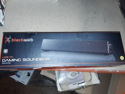 Lot 3509 LOT OF 3 BOXED BLACKWIDOW USB PC GAMING SOUNDBARS