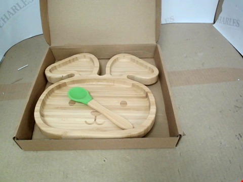 Lot 10557 BOXED BAMBOO SUCTION PLATE