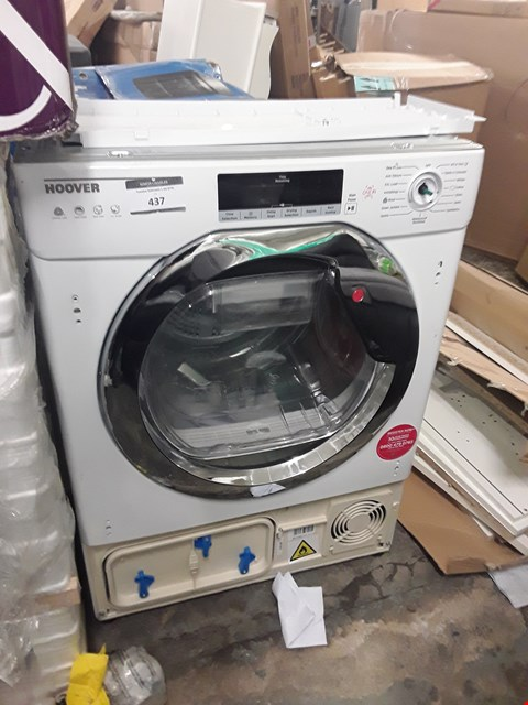 Lot 437 HOOVER HTDBW H7A1TCE-80 WHITE BUILT-IN HEAT PUMP TUMBLE DRYER, 7KG