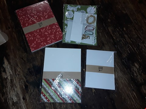 Lot 2038 LOT OF APPROXIMATELY 6 BRAND NEW CREATE AND CRAFT GLISTENING GLITTER CHRISTMAS CARD KIT (2 BOXES)