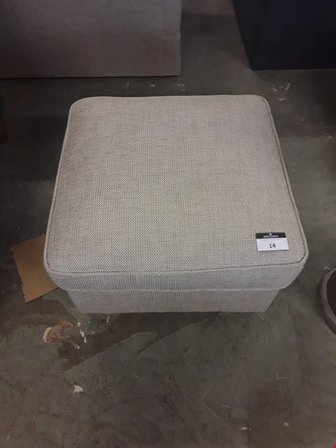 Lot 14 QUALITY NATURAL WEAVE FABRIC FOOTSTOOL
