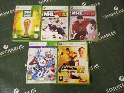 Lot 3033 5 ASSORTED X BOX 360 GAMES
