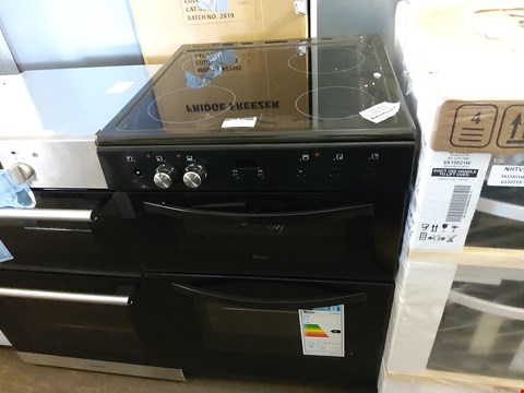 Lot 7030 SWAN BLACK FREESTANDING TWIN CAVITY ELECTRIC COOKER