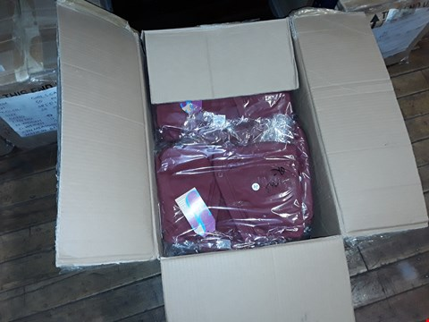 Lot 1369 A BOX OF APPROXIMATELY 35 GIRL'S CARDIGANS - MAROON
