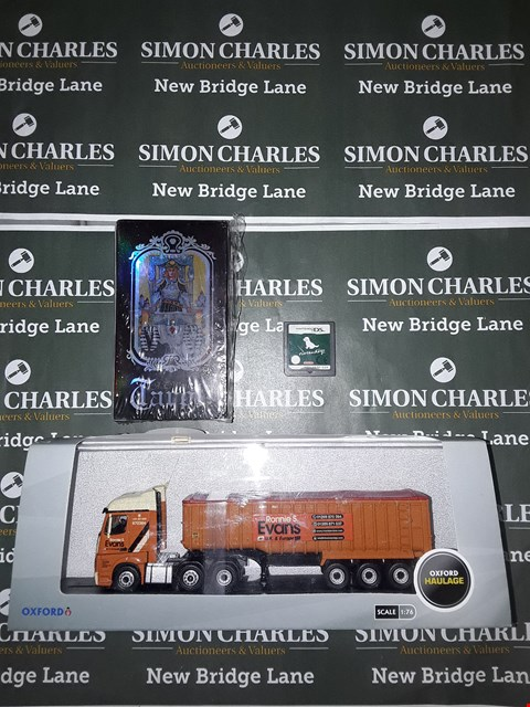 Lot 765 LOT OF 3 ASSORTED ITEMS TO INCLUDE AN OXFORD MODEL HAULAGE LORRY, A PACK OF TAROT CARDS AND A NINTENDO DS GAME