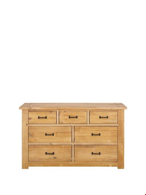 Lot 7129 BRAND NEW BOXED ALBION SOLID PINE 4 + 3 DRAWER CHEST (1 BOX)  RRP £299.00