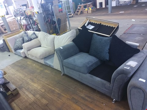 Lot 6045 TWO SOFA SECTIONS AND A SOFA (MISSING CUSHIONS)