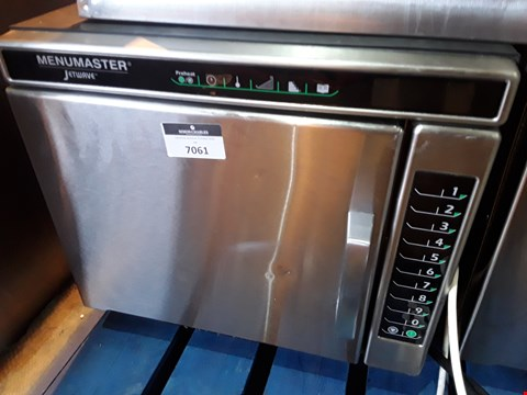 Lot 7061 MENUMASTER JETWAVE HIGH SPEED COMBINATION MICROWAVE/OVEN