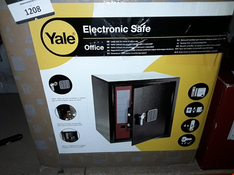 Lot 1208 YALE ELECTRONIC SAFE