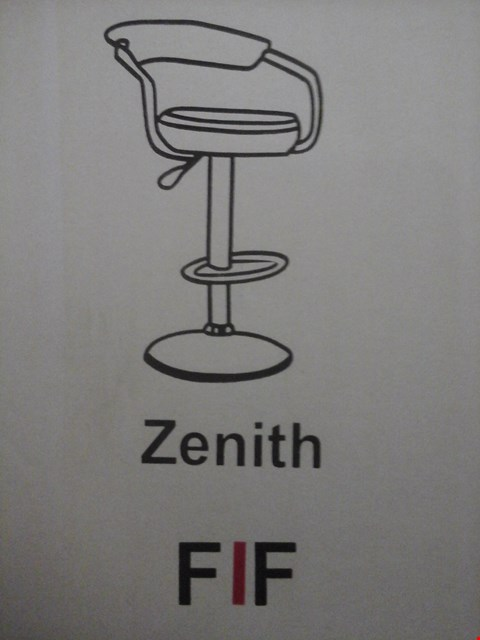 Lot 6027 FURNITURE IN FASHION 2 ZENITH GAS BAR STOOLS IN BLACK ( 1 BOX )