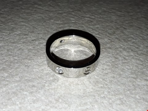 Lot 6014 CARTIER STYLE SILVER LOOK RING