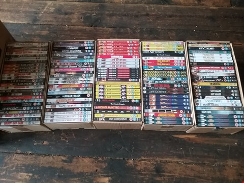 Lot 3014 APPROXIMATELY 5 BOXES OF 125 ASSORTED DVDS TO INCLUDE JUNGLE BOOK, ROY CHUBBY BROWN AND AMERICAN GANGSTER