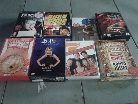 Lot 4409 4 BOXES OF ASSORTED MEDIA ITEMS TO INCLUDE RUSH HOUR TRILOGY, THE NIGHTMARE ON ELM STREET AND THE COMPLETE AMERICAN PIE SET