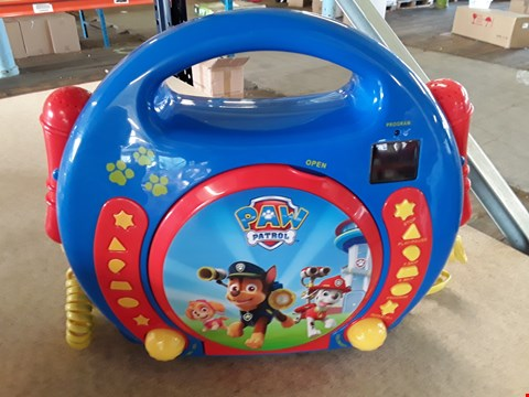 Lot 11192 UNBOXED GRADE 1 PAW PATROL CD PLAYER RRP £60