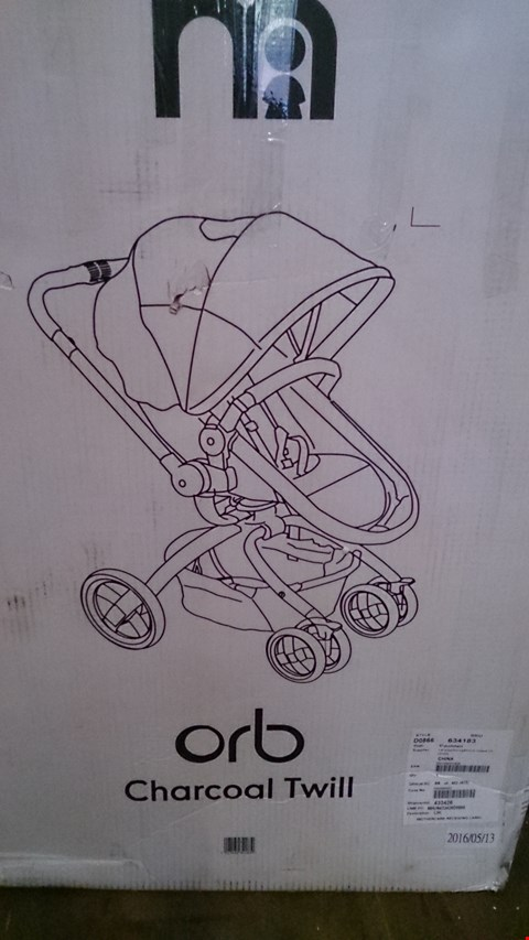 Lot 2417 A SET OF 2 ASSORTED ITEMS INCLUDING A ORB PRAM AND PUSHCHAIR AND A LITTLE TRIKES MY FIRST SLIDE. RRP £600.00