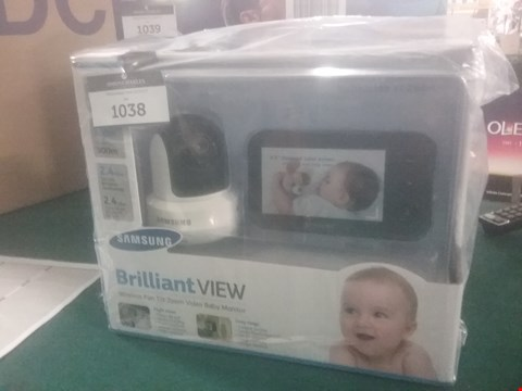Lot 1038 SAMSUNG BRILLIANT VIEW WIRELESS VIDEO BABY MONITOR  RRP £164.99