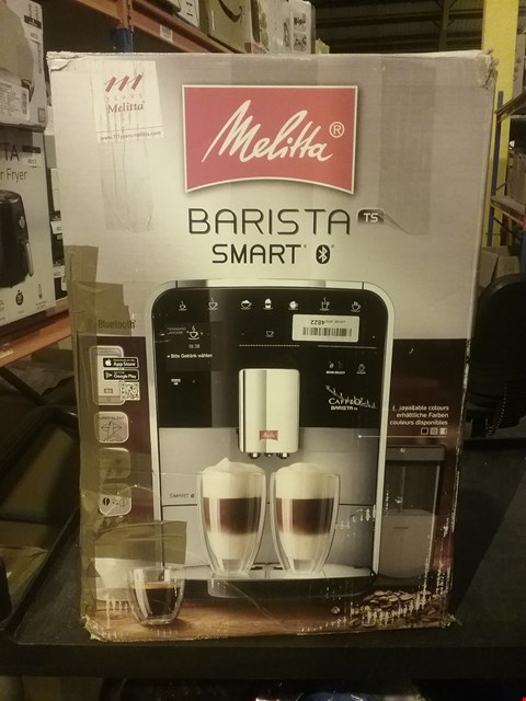 Lot 4004 MELITTA F85/0-101 BARISTA TS SMART, STAINLESS STEEL, 1450 W, 1.8 LITERS, SILVER