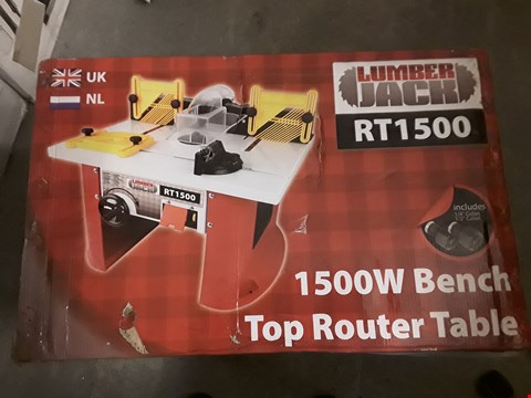 Lot 2536 LUMBER JACK RT1500 BENCH TOP ROUTER TABLE