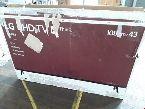 "Lot 1028 LG 43"" ULTRA HD THINQ TELEVISION MODEL 43UK6300PLB"