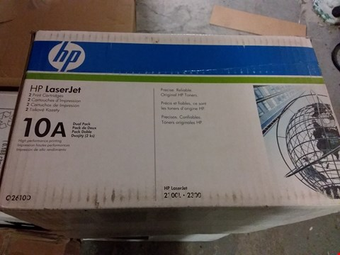 Lot 1404 HP LASERJET 2 X PRINT CARTRIDGE 10A