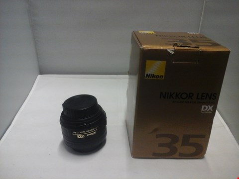 Lot 1004 BOXED NIKON NIKKOR AF-S DX 35MM CAMERA LENS  RRP £289