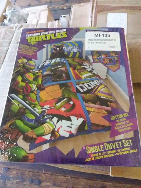 Lot 75 LOT OF 4 BOXES OF TEENAGE MUTANT NINJA TURTLES DUVET SETS APPROX 24