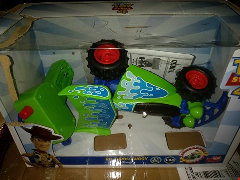 Lot 8432 BOXED DISNEY PIXAR TOY STORY 4 RC TURBO BUGGY WOODY RRP £35.00