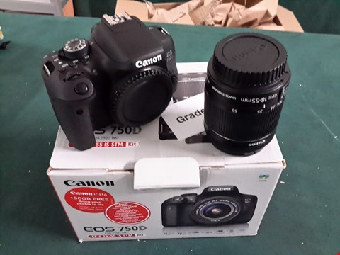Lot 1076 GRADE 1 BOXED CANON 750D EF-S 18-55MM IS STM KIT RRP £929