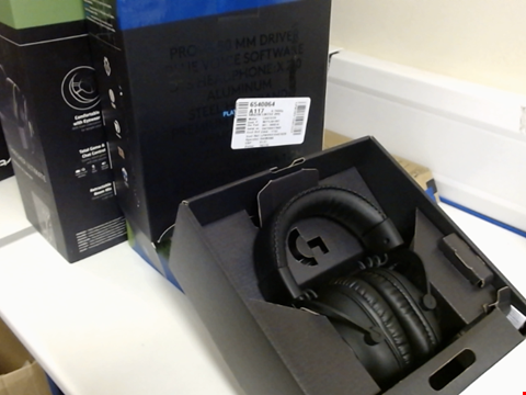 Lot 15405 LOGITECH G PRO X GAMING HEADSET (2ND GENERATION) WITH BLUE VO!CE, DTS HEADPHONE:X 7.1 AND 50 MM PRO-G DRIVERS (FOR PC, PS4, SWITCH, XBOX ONE, VR) - BLACK