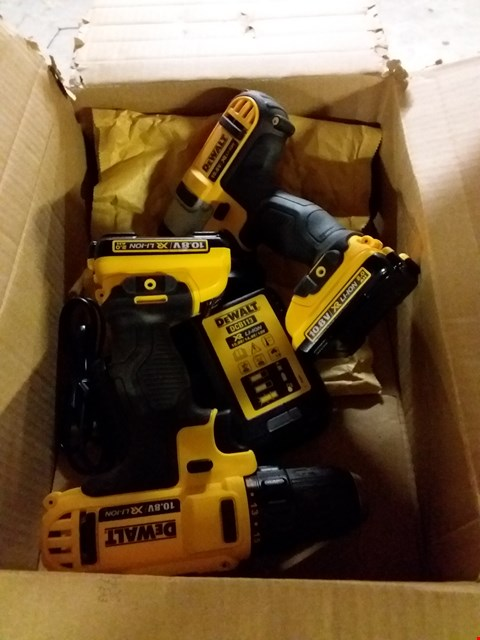 Lot 4532 DEWALT DCK211D2T TWIN DRILL SET