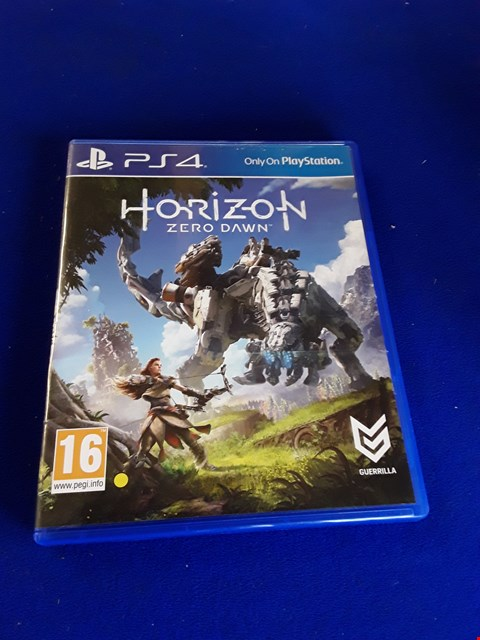 Lot 7626 HORIZON ZERO DAWN PLAYSTATION 4 GAME